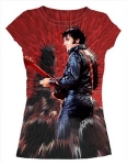 T-Shirt Elvis '68 Ladies Red